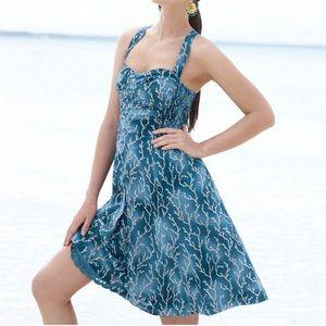 Anthro HD in Paris Acropolis Coral Reef Dress